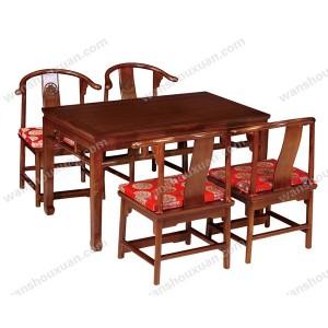 明式餐桌_产品图片_万寿轩老榆木家具