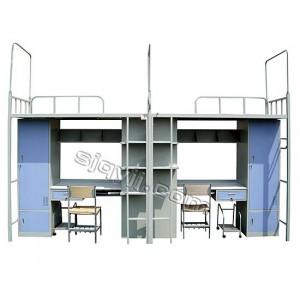 新款学生公寓床 上床下桌组合床