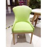北欧风格、蓝色、黄色、绿色皮椅子