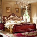 香河欧式床 全实木床 双人床橡木床 美式真皮床