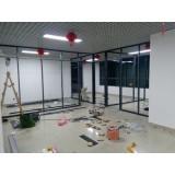 北京市中关村玻璃隔断框架做完