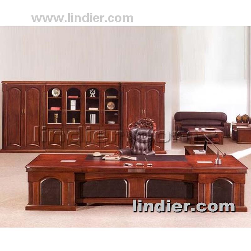 香河林帝尔实木大班台 老板办公桌