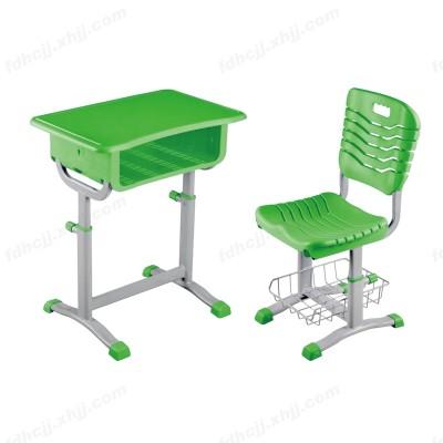 河北富都华创绿色单人课桌椅带置物架17