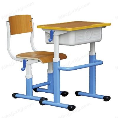 河北中学生升降课桌 塑钢课桌椅03