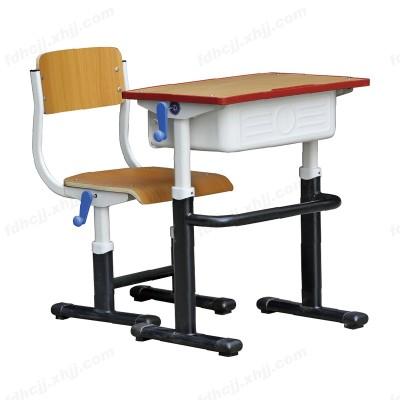 河北手摇升降单柱单层套管课桌椅02