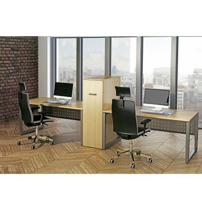 河北办公室带挡板屏风工作位桌架R-2