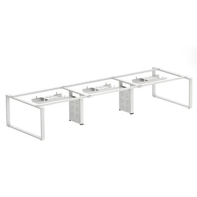 河北简约时尚条形屏风工作位桌架C