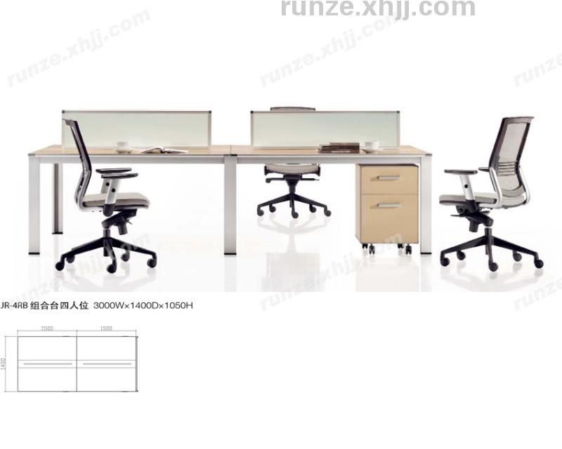 香河润泽简约现代办公桌椅 开放式办公屏风