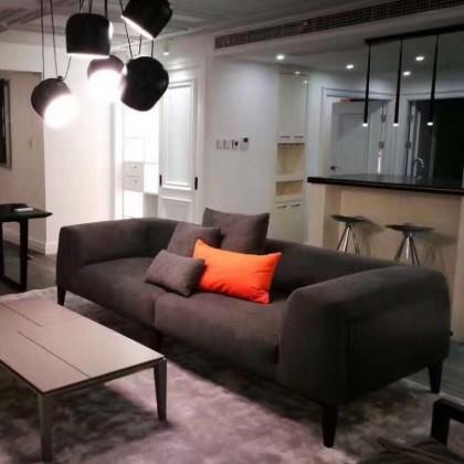 广东德驰宝泊客厅贝加莫布艺沙发小户型3.35米香河工厂自营店