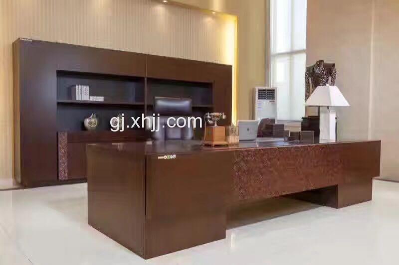 香河国景办公家具精品胶板电脑桌,班台,书柜