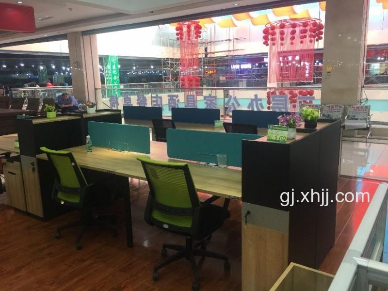 香河国景办公家具胶板精品两人位对桌