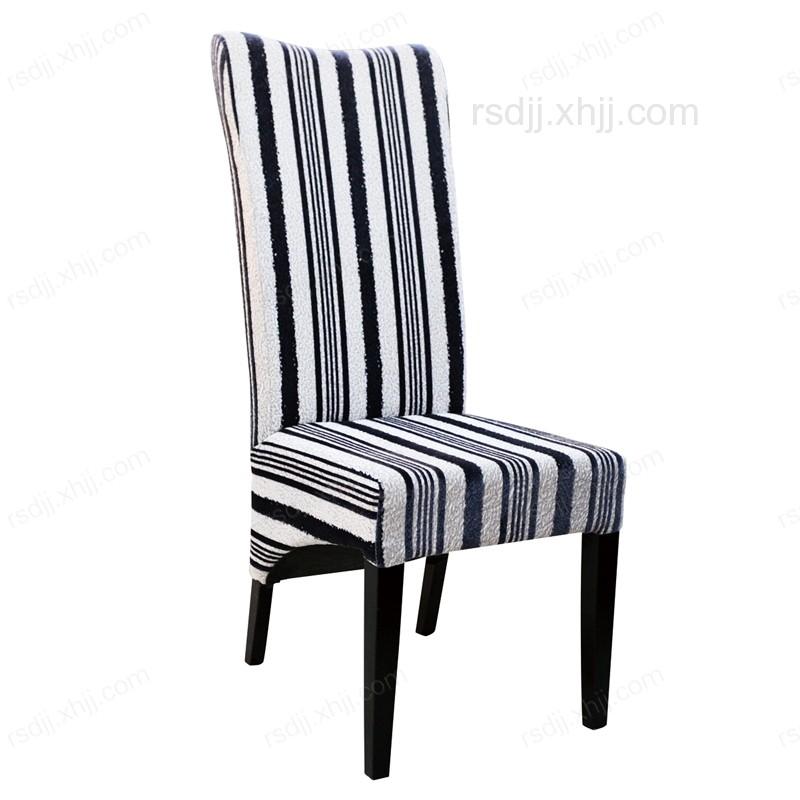 香河黑白条格时尚餐厅椅18