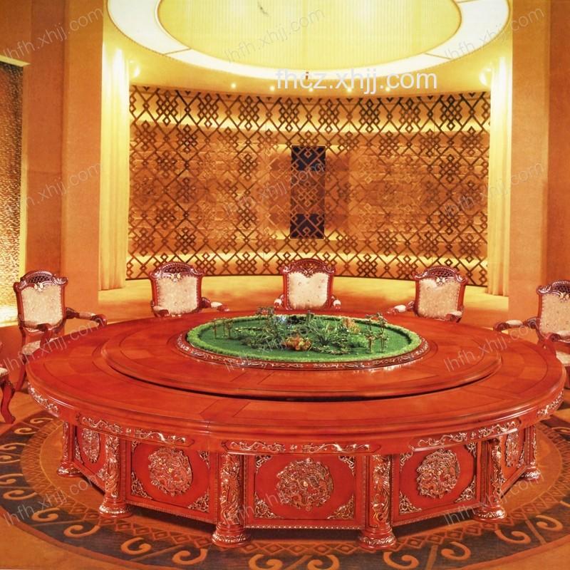 豪华酒店包间圆桌 圆台桌 旋转餐桌10(龙凤呈祥a款)